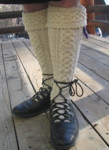 The He 'mo Leanan Kilt Hose Pattern, featured in the book: Sock Knitting from Around the World Voyageur Press 2011