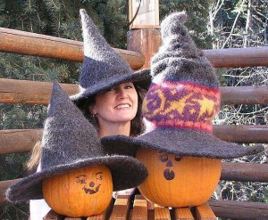The Enchanting & Magical Witch Hat Pattern Hand Knit & fulled Witch Hats for all the charmers in your coven! This pattern is available in our ravelry store