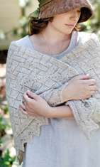 This lovely hap shawl, feautured in the Fall 2013 issue of Jane Austen Knits, is one of Anne's new designs